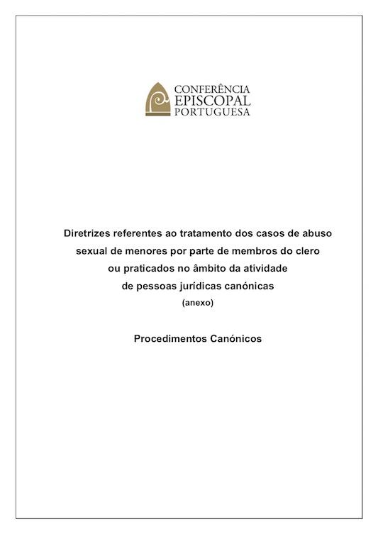 Procedimentos Canónicos anexos às Diretrizes da CEP