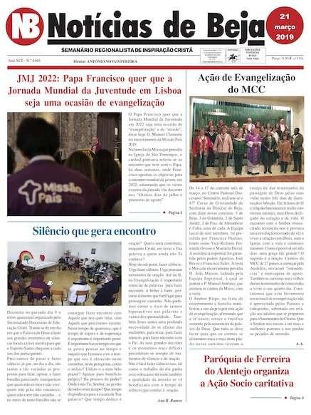 Jornal Notícias de Beja 21 de março de 2019