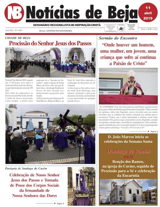 Jornal Notícias de Beja de 11 de abril de 2019