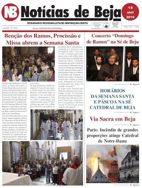Jornal Notícias de Beja de 18 de abril de 2019