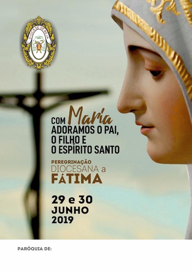 Cartaz da Peregrinação Diocesana a Fátima