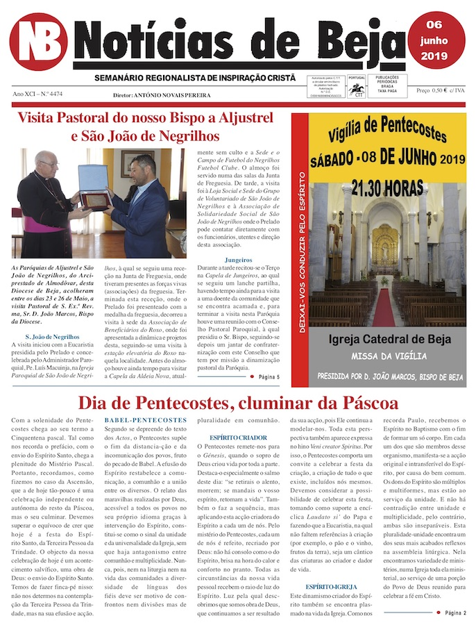Jornal Notícias de Beja de 06 de Junho de 2019