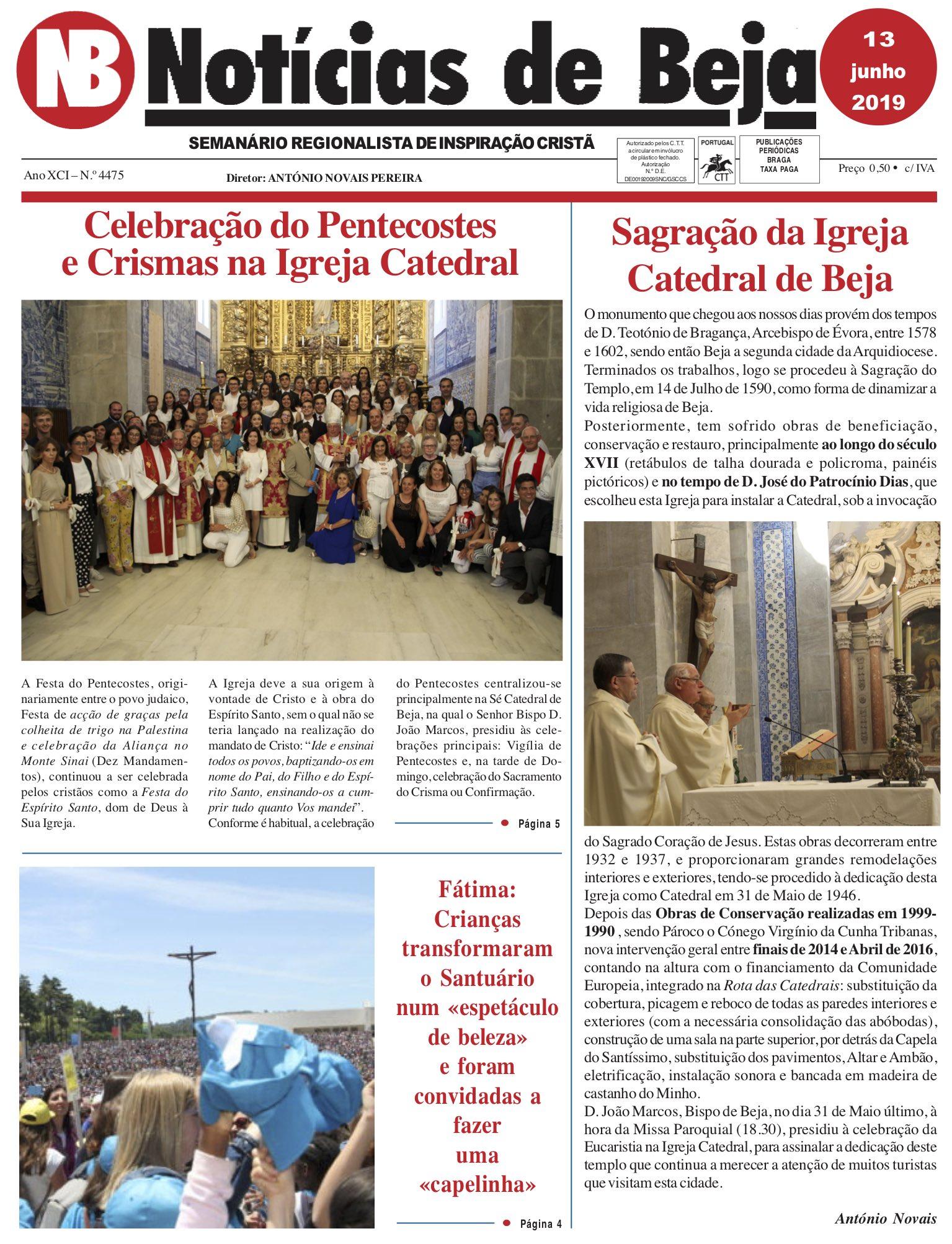 Jornal Notícias de Beja de 13 de Junho de 2019