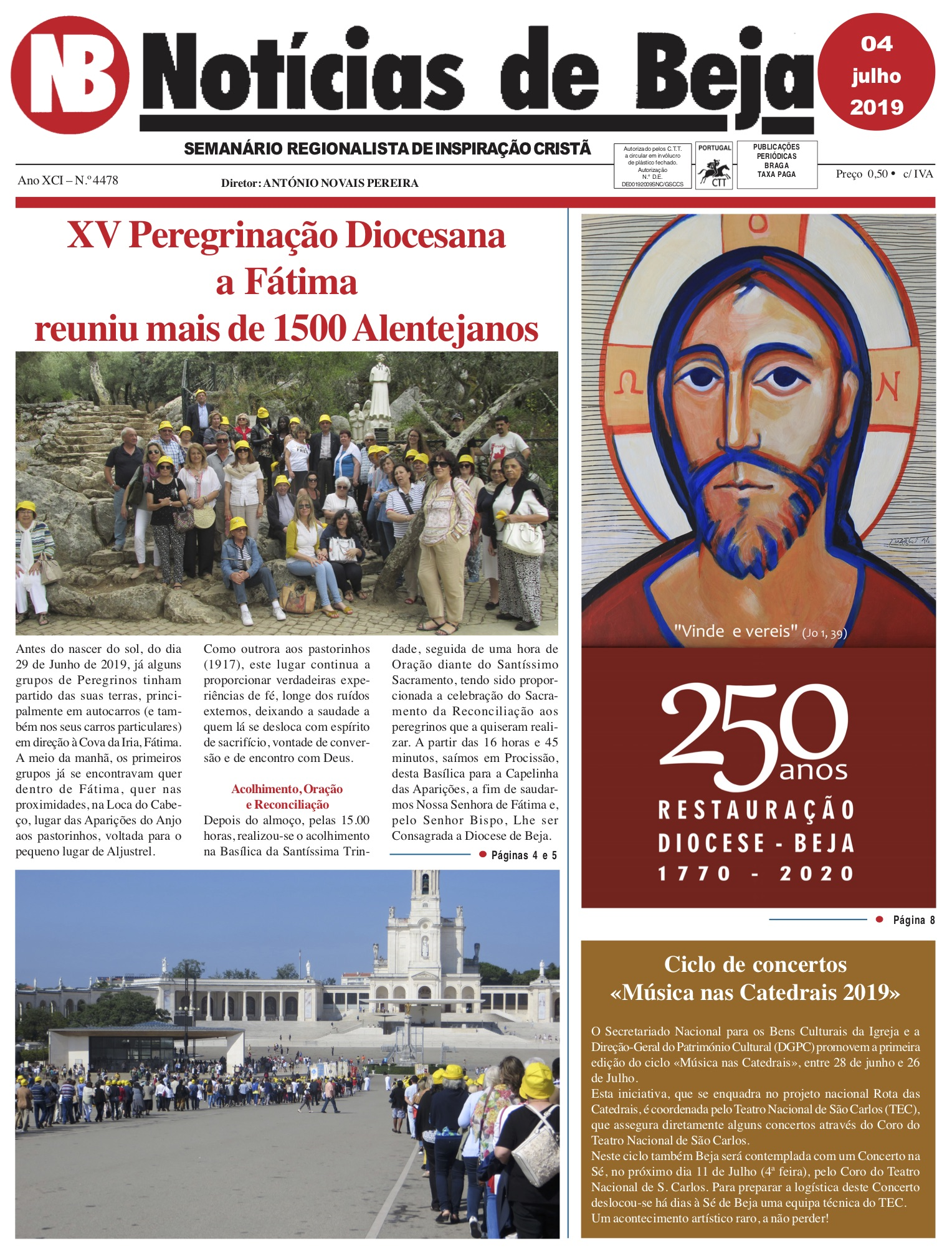 Jornal Notícias de Beja de 04 de Julho de 2019