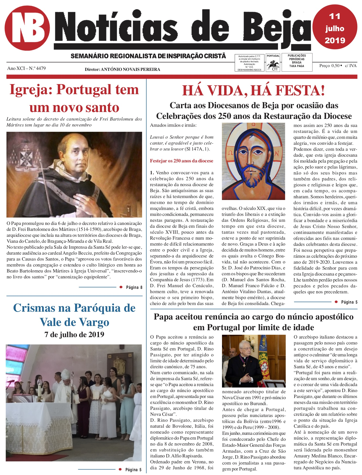 Jornal Notícias de Beja de 11 de Julho de 2019
