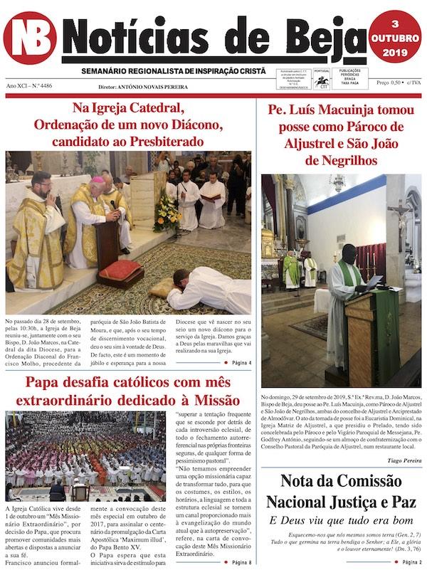 Jornal Notícias de Beja de 03 de Outubro de 2019