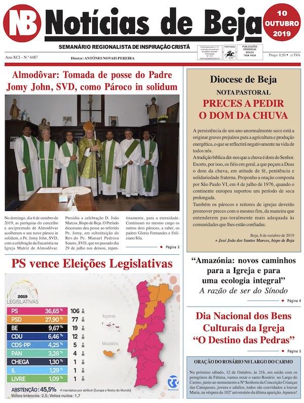 Jornal Notícias de Beja de 10 de Outubro de 2019