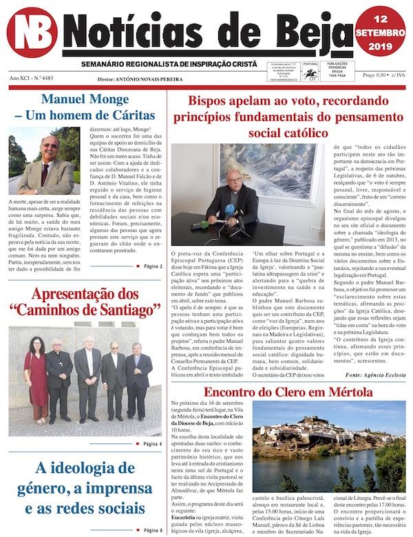 Jornal Notícias de Beja de 12 de Setembro de 2019
