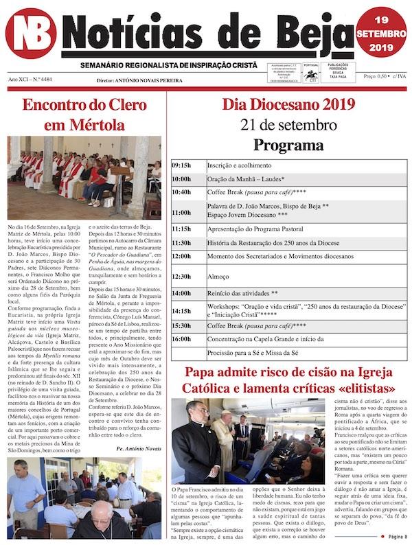 Jornal Notícias de Beja de 19 de Setembro de 2019