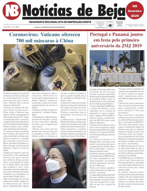 Jornal Notícias de Beja de 06 de Fevereiro de 2020