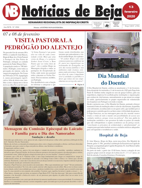 Jornal Notícias de Beja de 13 de Fevereiro de 2020