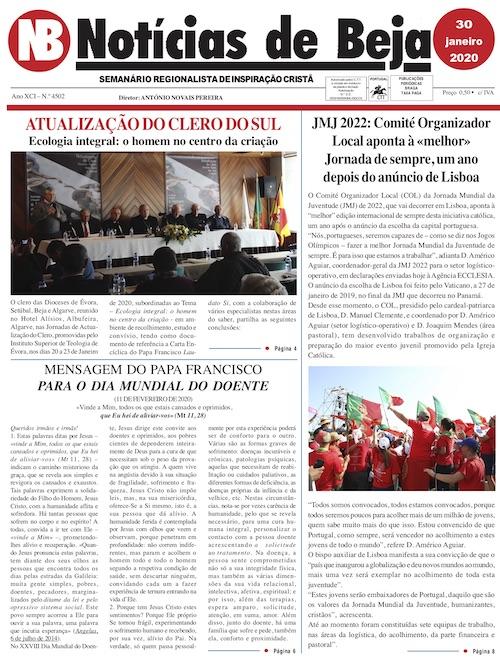 Jornal Notícias de Beja de 30 de Janeiro de 2020