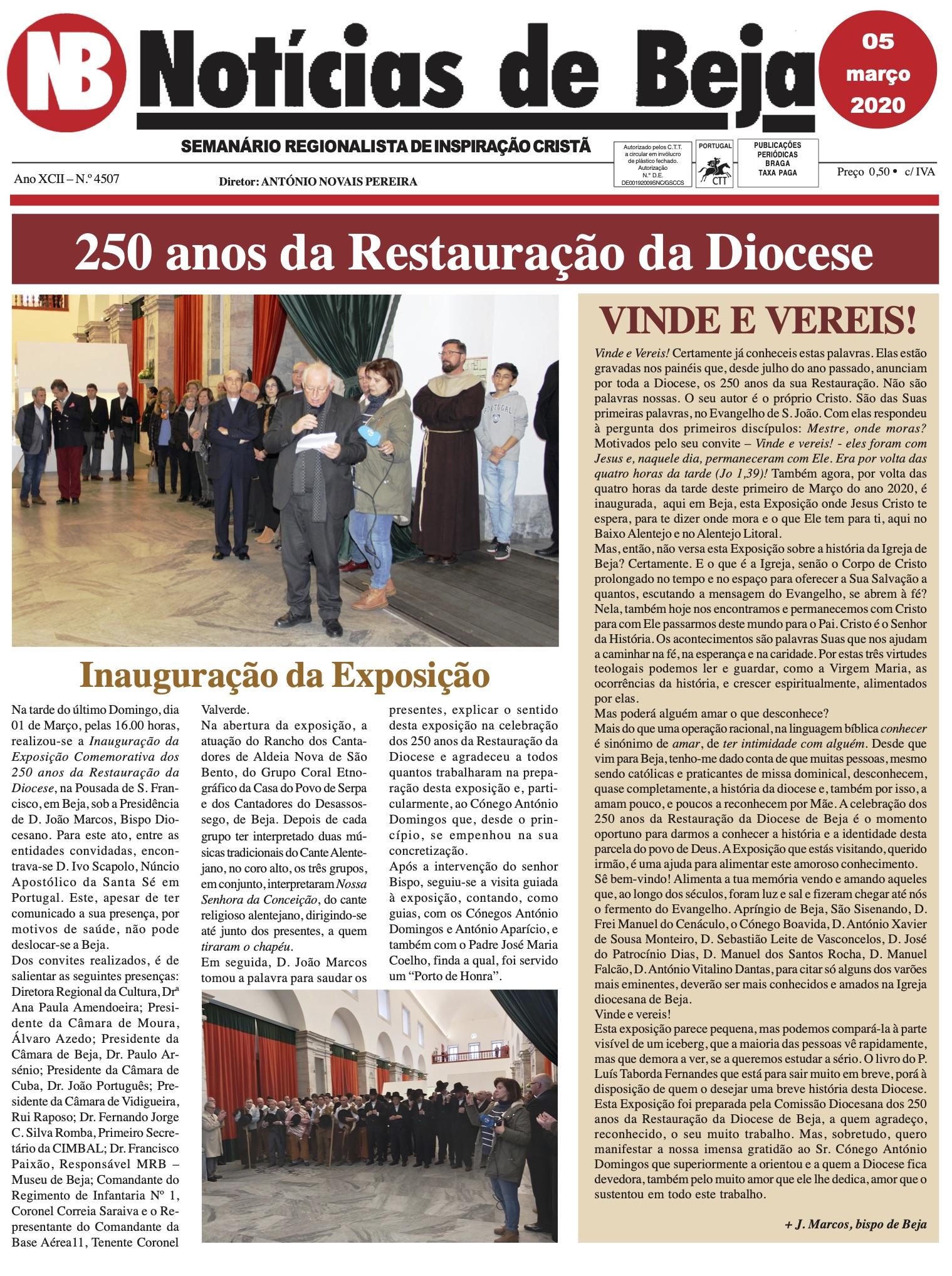 Jornal Notícias de Beja de 05 de Março de 2020