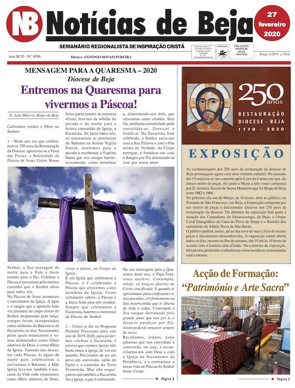 Jornal Notícias de Beja de 27 de Fevereiro de 2020
